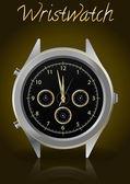 Elegant wristwatch — Stock Vector