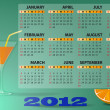 Royalty-Free Stock Vector Image: 2012 calendar cocktail