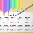 Stock Vector: 2012 calendar pencil, italian