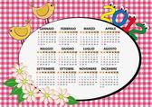 2012 fågel kalendern — Stockvektor