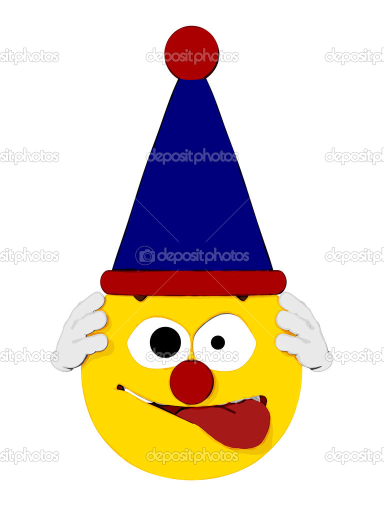 Cartoon render of a emoticon clown.  — Stock Photo #6769150