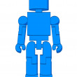 Block Figure Man - Stock Photo