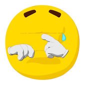 Emoticon Crying — Stock Photo