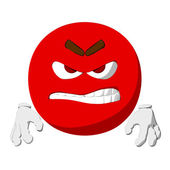 Emoticon Rage — Stock Photo
