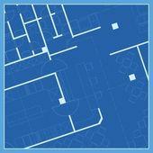 房子计划、 蓝图矢量 — 图库矢量图片