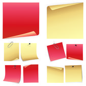 Set of colorful note paper — Stock Vector