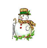 Snowman — Zdjęcie stockowe