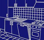 Para cocina — Vector de stock