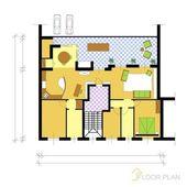 Floor plan — Stock Vector