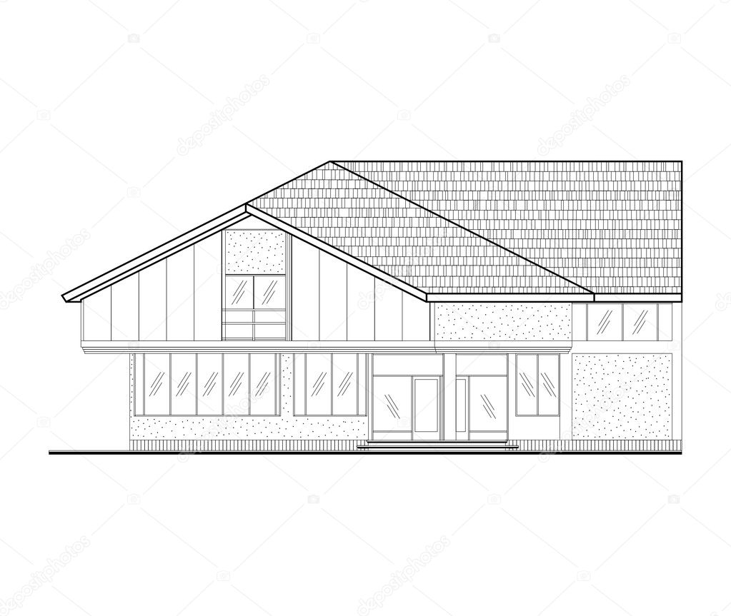 Architectural Facades Drawings Architectural Facade Drawing