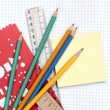 Notebook and school accessories — Stock Photo #6911704