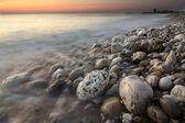 Havet solnedgång — Stockfoto