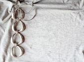 Silver bracelet and earrings — Stock Photo