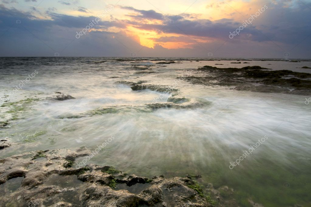 Sunset on the Mediterranean Sea, Lebanon. — Stock Photo #6911793
