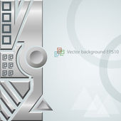 Vector eps10 techno fondo con ornamento de metal — Vector de stock