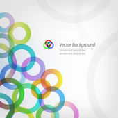 EPS10 vector abstract circle background — Stock Vector