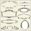 Set vintage retro frames — Stock Vector
