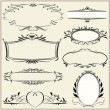 Set vintage retro frames — Stock Vector #7627999