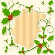 Royalty-Free Stock Vector Image: Christmas decoration with holly berry floral