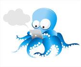 Chobotnice s tabletem — Stock vektor