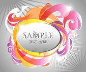 Colorful abstract beautiful banner — Stock Vector