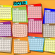 Calender of year 2012 - Stock Vector