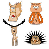 Animals from the forest — Stock Vector