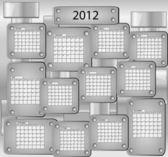 2012 yılı tüm ayları ile kalender — Stok Vektör