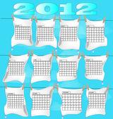 2012 yılı takvimi üzerinde Çamaşırhane — Stok Vektör