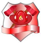 Fire department badge — Stock Vector
