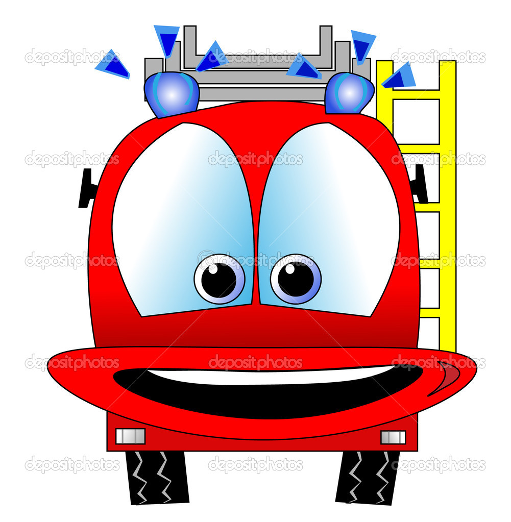 Vector of fire engine — Stock Vector #6804547