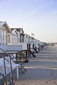 Houses on beach — Stock Photo
