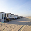 Stock Photo: Houses on beach