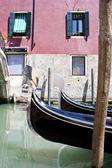 Canal de gôndola em veneza — Fotografia Stock