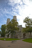 Vista abbazia di jumieges, normandia francia — Foto Stock
