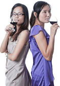 Night out with Wine — Stock Photo