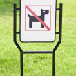 No dogs pets allowed warning sign — Stock Photo