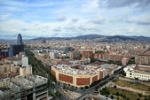 Barcelona Aerial view — Stock Photo