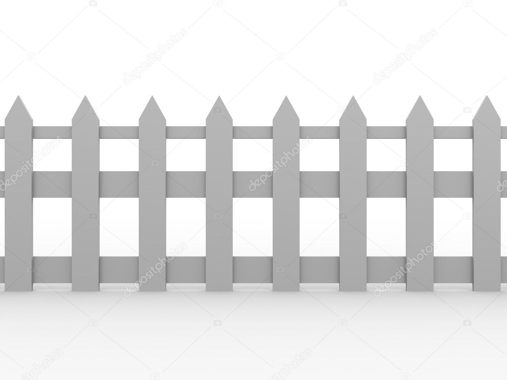 Illustration of a traditional wooden fence. 3d render — Stock Photo #6811988