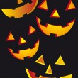 Royalty-Free Stock Vector Image: Halloween faces