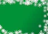 Christmas background on green — Stock Vector