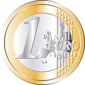 Pièce euros — Vecteur