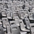 plastic chairs — Stock Photo