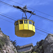 Yellow cablecar — Stock Photo
