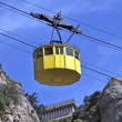Stock Photo: Yellow cablecar