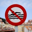 Swimming prohibited — Stock Photo #7009474