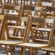 Wooden chairs — Stock Photo #7009532