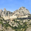 Panoramic view of Montserrat - Stok fotoğraf