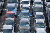 Many cars parked — Stock Photo