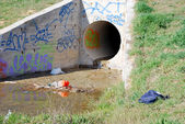 Urban culvert — Stock Photo